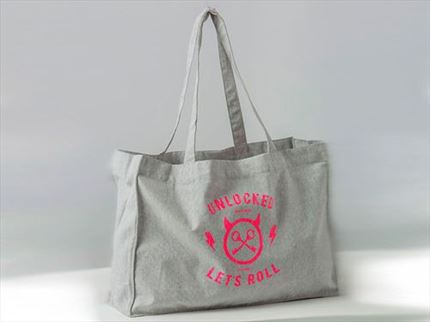 BOLSO COTTON BAG GRAY
