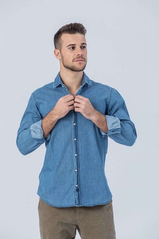 CAMISA DENIM SKY SLIM FIT