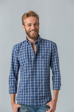 CAMISA LINO CUADROS GR REGULAR FIT