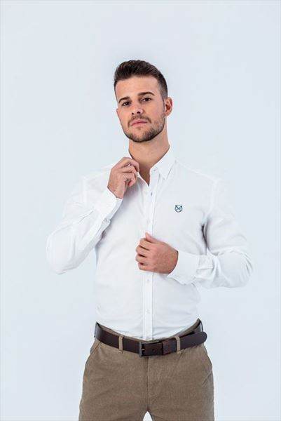 CAMISA OXFORD BLANCA SLIM BUTTON (1)