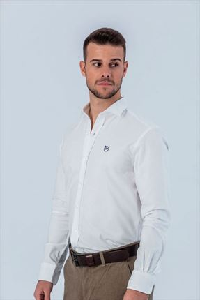 CAMISA BLANCA OXFORD SLIM ITALIANO