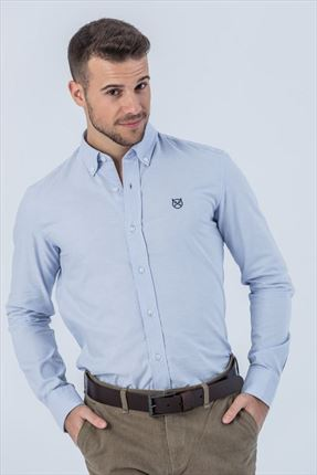 CAMISA OXFORD CELESTE REGULAR BUTTON