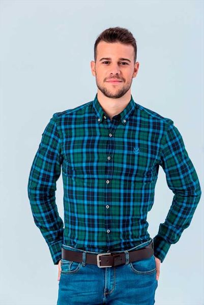 CAMISA SCOTLAND GREEN SLIM BUTTON (1)