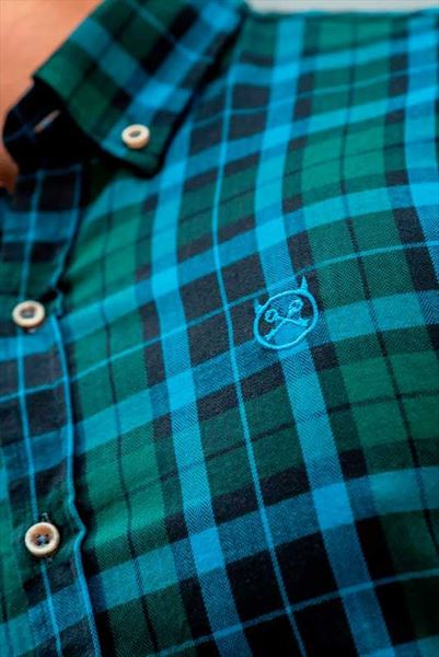 CAMISA SCOTLAND GREEN SLIM BUTTON (2)