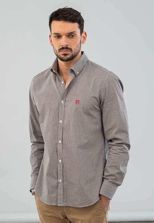 CAMISA VICHY NEGRO - SLIM FIT - BUTTON DOWN