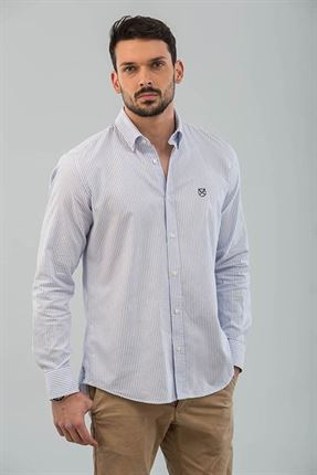 CAMISA OXFORD RAYAS SLIM