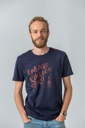 CAMISETA ROCK AND ROLL NAVY
