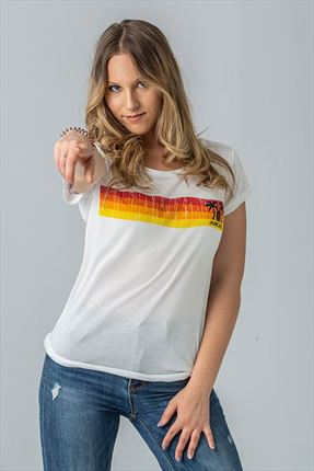 CAMISETA SUNSET WOMAN WHITE