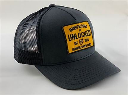GORRA PREMIUM TRUCKER BLACK GRAY